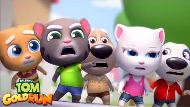 Говорящий Том Бег за золотом игровой мультик TvGfGK Серия 2 Видео для детей Tom Gold Run