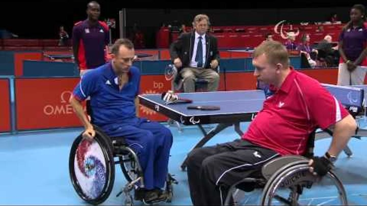 Table Tennis - RUS vs FRA - Men's Singles - Class 2 Quarterfinal 2 - London 2012 Paralympic Games