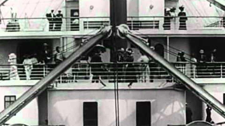 "Titanic departure (real video 1912) / Хроника ""Титаника"". Кадры 100-летней давности."