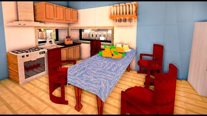 КУХНЯ и ГОСТИНАЯ КОМНАТА в майнкрафт - Серия 30 - Timelapse - Minecraft - Строительный креатив 2