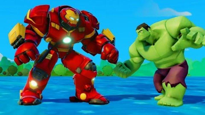 Мультик игра для детей Халкбастер спасает Анну от Халк и Тачки Машинки Дисней Frozen Anna & Hulkм