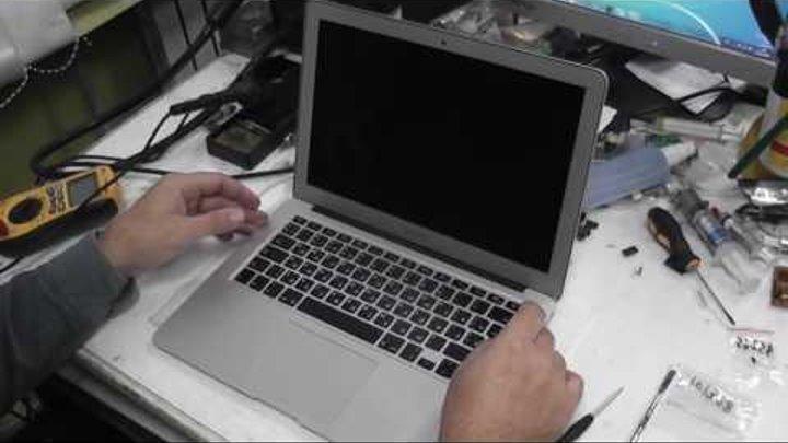 Ремонт Macbook Air 13 после удара тормозит, сброс SMC (середина 2012 A1466)