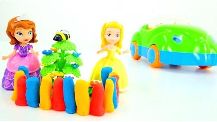 София Прекрасная: лепим из пластилина! Логопедические занятия для детей. Видео про принцесс