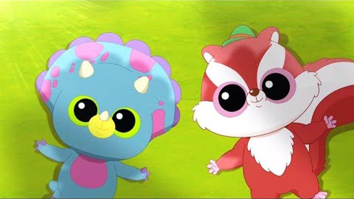 Мультфильм для детей - Юху и его друзья - Свирепый динозавр