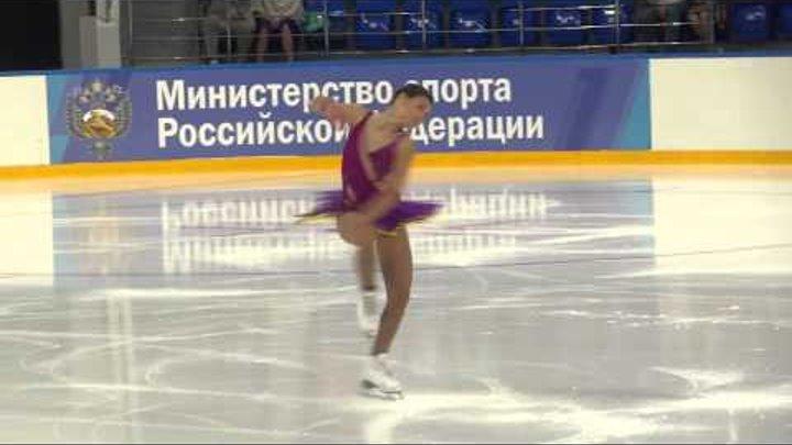 Аделина Сотникова на открытых прокаты сезона 2015 2016 в Сочи