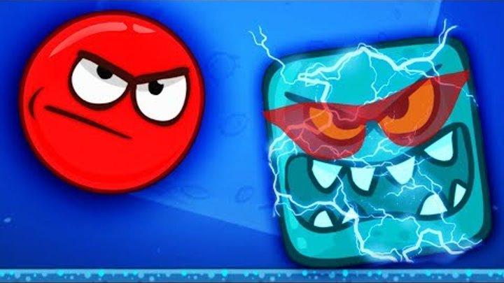 Red Ball 4 ЛУННЫЙ БОСС против КРАСНОГО ШАРИКА Мульт игра для детей Приключения шарика на луне