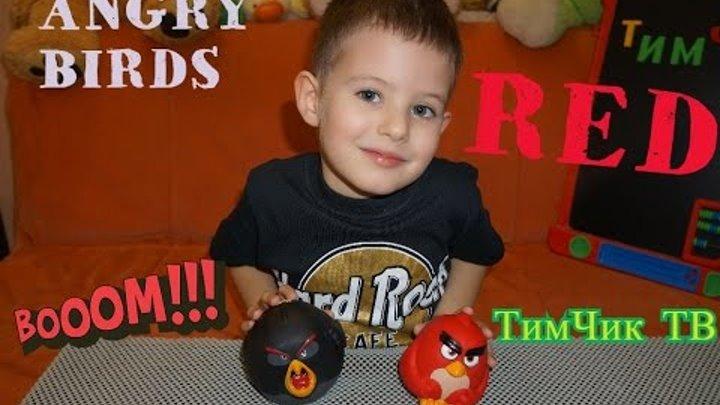 Энгри Бердс. Птичка-шарик. Злые птички. Angry Birds 90503. РЕД. Crazy RED Bird.