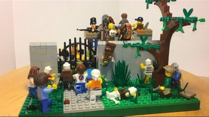 """Лего самоделка #12 на тему зомби апокалипсис """"лагерь выживших"""""""