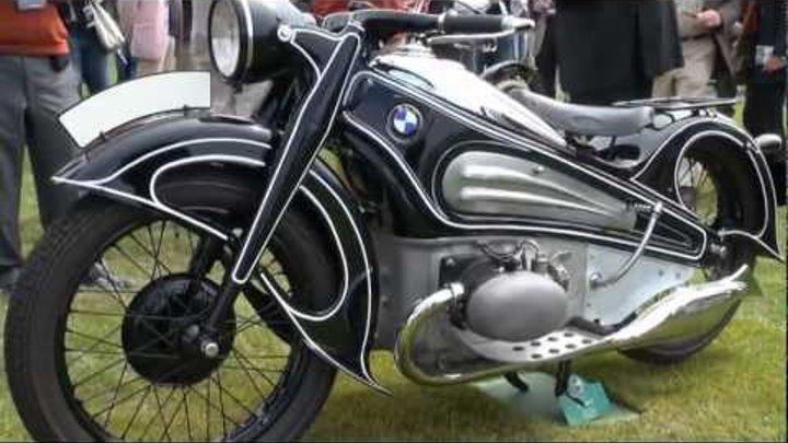 Vintage German Motorcycles of 2012 Concours d'Elegance [1080HD]