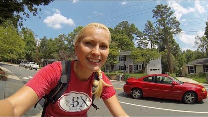 Дома в Америке / Прогулка на велосипеде по улицам Шарлотт Северная Каролина США