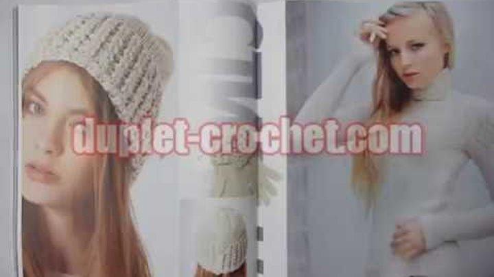 November 2013 Zhurnal MOD 572 Russian crochet and knit patterns from www.duplet-crochet.com
