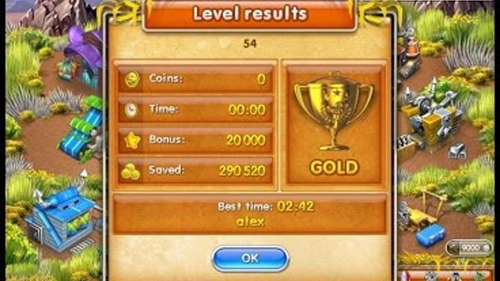 Farm Frenzy 3 American Pie (level 54) only GOLD Веселая ферма 3 Американский пирог Уровень 54 Золото