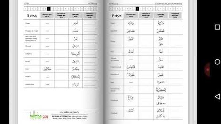 Уроки арабского языка. Мединский курс, 1 том, 9 урок, نعت или имя прилагательное.