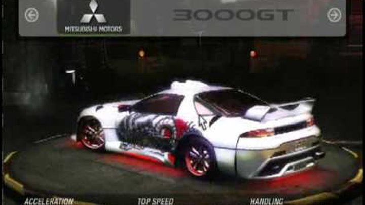 Need For Speed Underground 2 Tuning - Mitsubishi 3000GT SAMURAI (Bonecracker)