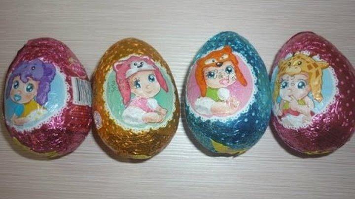 """Шоколадные яйца с сюрпризом """"Носики-курносики"""", Конфитрейд, Интернет магазин""""Уголок Сказки"""""""