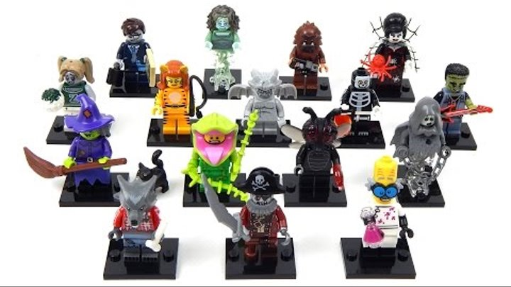 Lego Minifigures 71010 Series 14 Speed Build ALL 16 Monsters