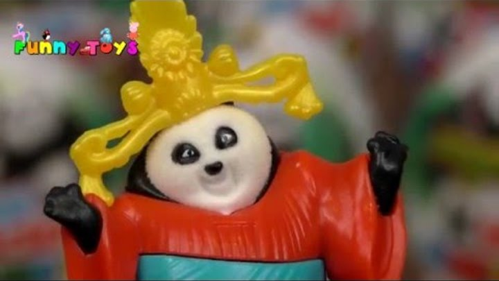 New Kinder Surprise Kungfu Panda 3. Девочка открывает сюрпризы Кунг фу Панда 3