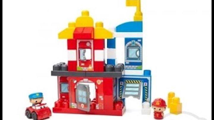 Конструктор Mega Bloks собираем команду спасателей. Игры для мальчиков.Распаковка игрушек Мегаблокс.