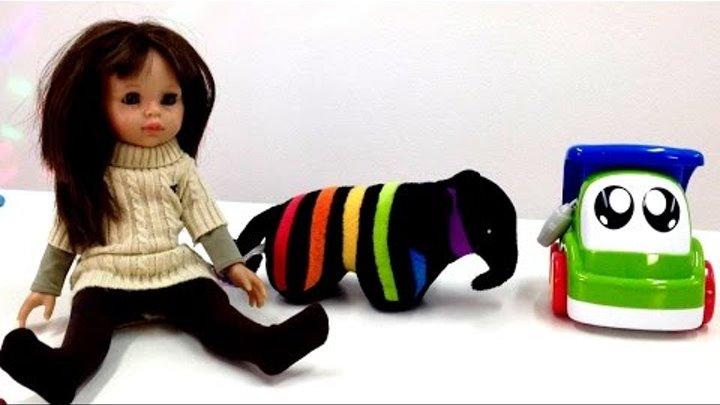 Учим английский с Мэри! Животные для детей - слон. Цвета для детей - голубой. Животные на английском