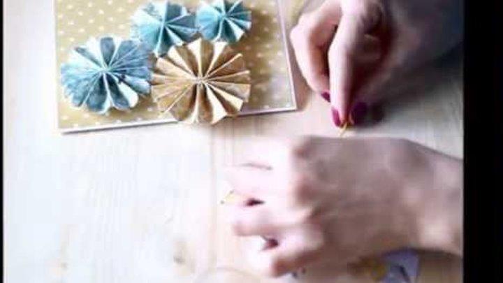 Как сделать яркую открытку в подарок на День Рождения (видео мастер-класс)