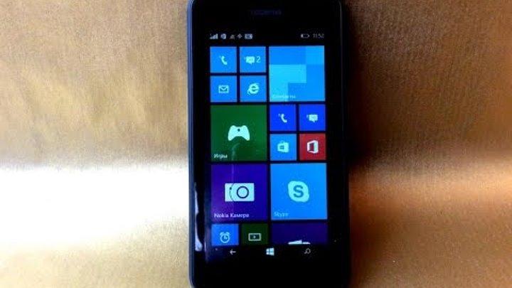 Nokia Lumia 530 Dual SIM - бюджетный двухсимный Windows-фон - видео обзор