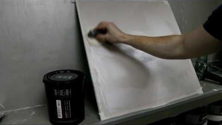"Как наносить декоративную штукатурку Seta (мастер-класс ""шелк"") Урок 2"