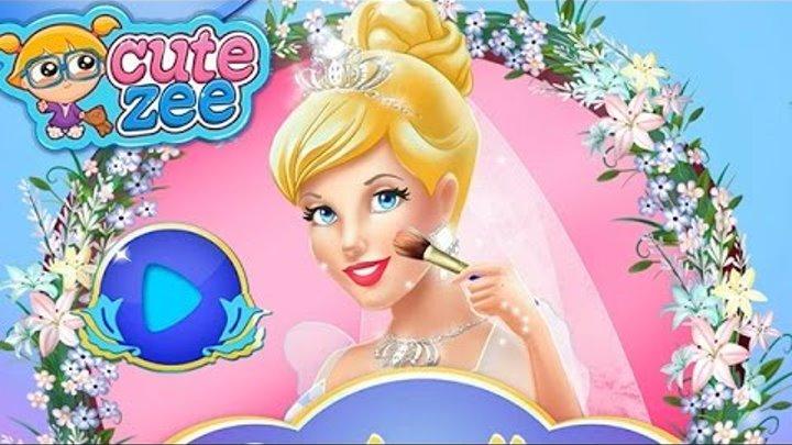 NEW Игры для детей—Disney ПРинцесса Золушка свадебный макияж—Мультик для девочек