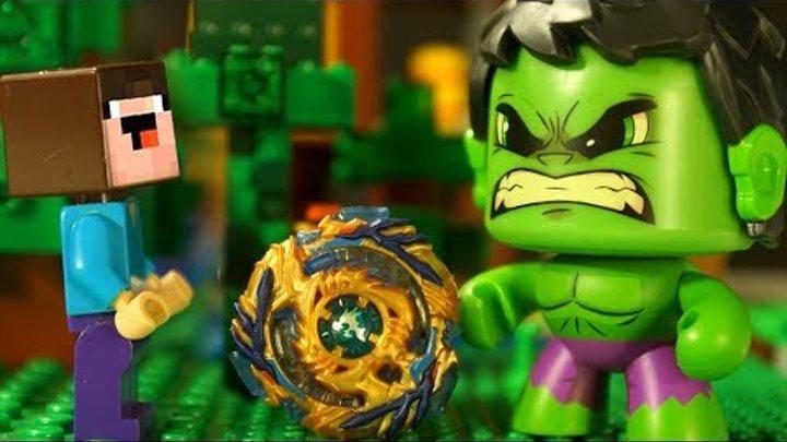 ЗОМБЯК ТОЛСТЯК 💩 Бейблэйд Бёрст и Лего НУБик Майнкрафт Мультфильмы для Детей - LEGO Animation