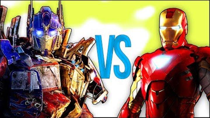 ЖЕЛЕЗНЫЙ ЧЕЛОВЕК VS ТРАНСФОРМЕРЫ 5 | СУПЕР РЭП БИТВА |Ironman Avengers Мстители ПРОТИВ Optimus Prime