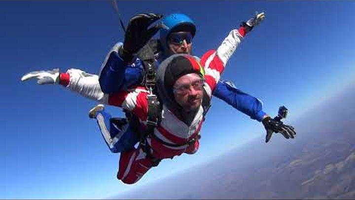 Первый прыжок с парашютом в тандеме (Большое Грызлово, Пущино, Скай Центр, Небо в подарок