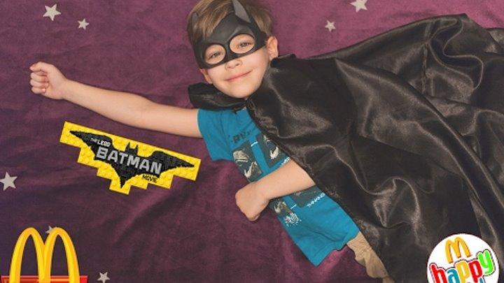 Распаковка Хэппи милл Бэтман муви и покупка Kinder Surprise и Lego Batman Minifigures.