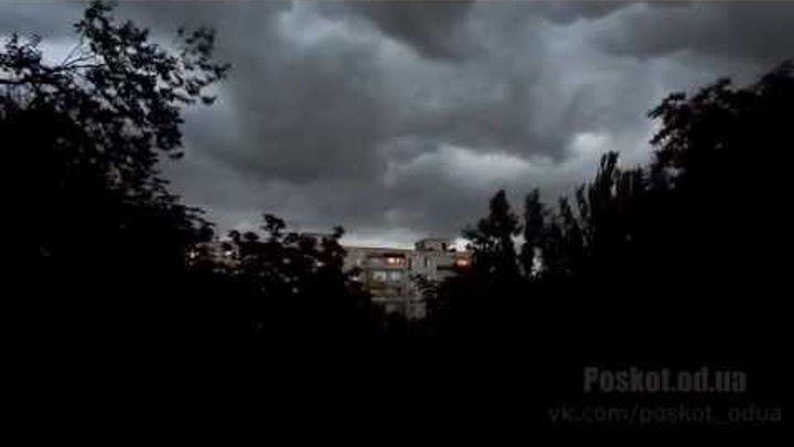 Начало грозы. Одесса, поселок Котовского. timelapse (1080p)