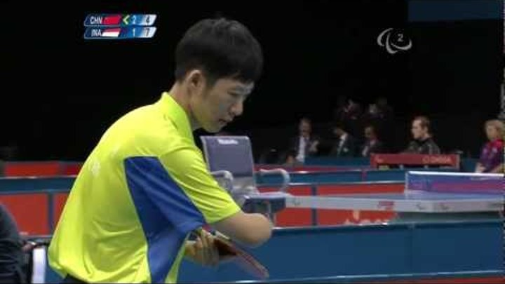 Table Tennis - CHN vs INA - Men's Singles - Class 10 Semi final - London 2012 Paralympic Games