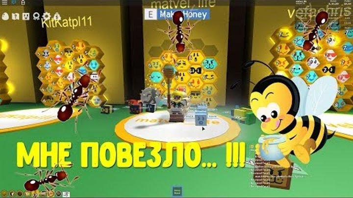 7 серия. Роблокс. Симулятор пчеловода. Легендарные пчёлы, муравьи и пчелкин квест.