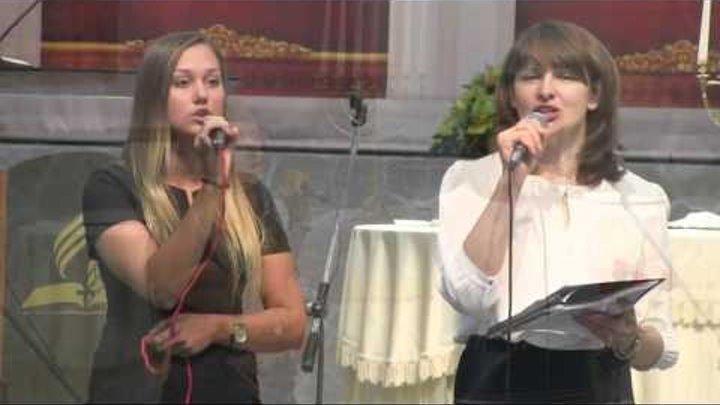 """Пение """"На скрижалях сердца напиши"""" (Наташа и Ксения) 26-09-2015"""