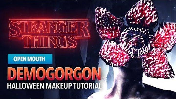 Stranger Things Monster Halloween Makeup Tutorial (open mouth)