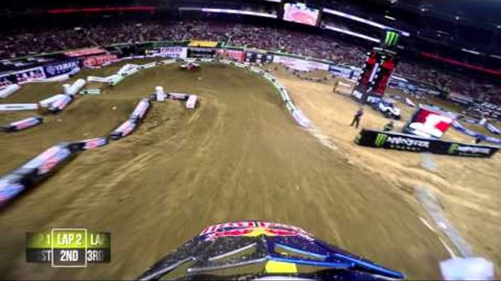 GoPro: James Stewart Heat Race 2016 Monster Energy Supercross from St. Louis