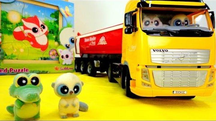 Юху и его друзья. Мультик с игрушками. Подарок для Чиву. Пазлы для детей.