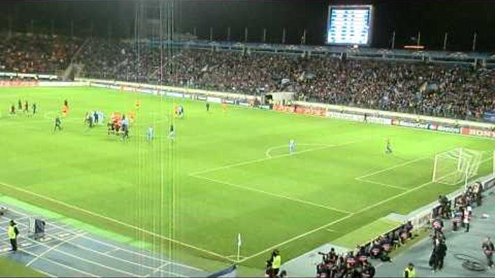Конец матча - последние доб мин Зенит-Шахтер 1.11.2011