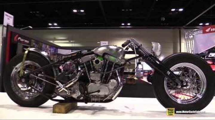 Harley Davidson Iron Head Custom Bike by Bowman Motorcycles - Walkaround - 2015 AIMExpo Orlando
