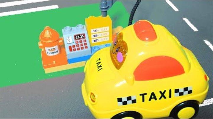 Мультики про машинки. Транспорт: Такси, автобус, поезд, самолетик. Развивающие мультики.