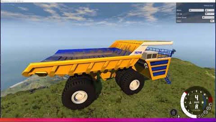 Падение Белаза все серии! новое видео для детей в игре BeamNG drive