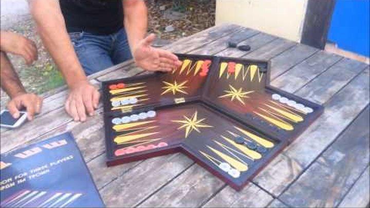 Backgammon For Three Players / нарды на троих / üç kişilik tavla / שש-בש לשלושה