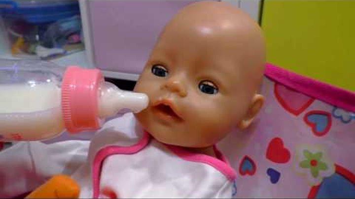 Вечер куклы Беби Бон Укладываю спать Видео куклы и пупсики baby born Игры для девочек дочки матери