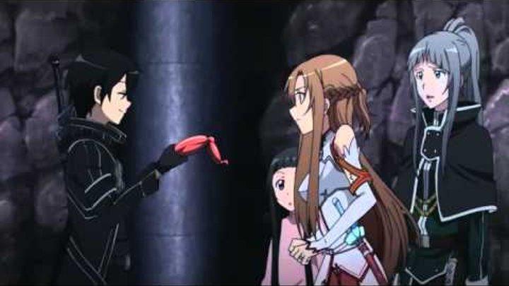 """Смешной момент из аниме """"Мастера меча онлайн   Sword Art Online"""""""