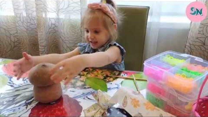 Живая детская игрушка травянчик делаем сами