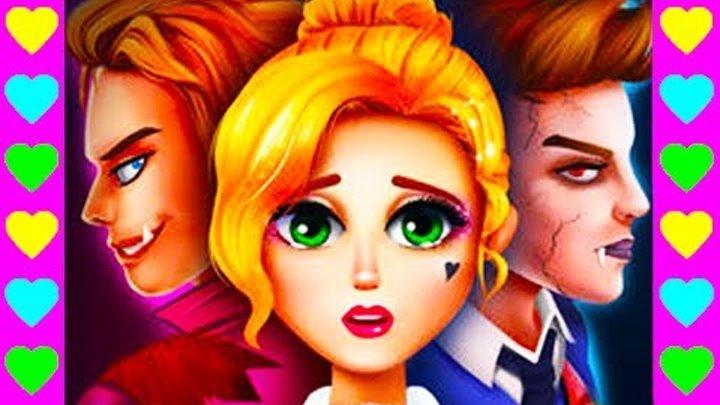 Мультик про любовь вампиров. 4 СЕРИЯ. Вампир против оборотня. Интересный детский мультфильм.