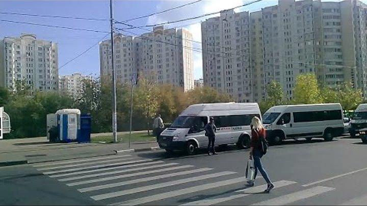 ) Москва. Люблино-Рынок Садовод-МЕГА-Белая дача. Поездка в маршрутке