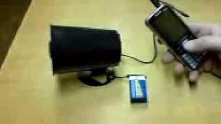 Манок электронный 95 звуков работает от телефона или мп3 плеера.