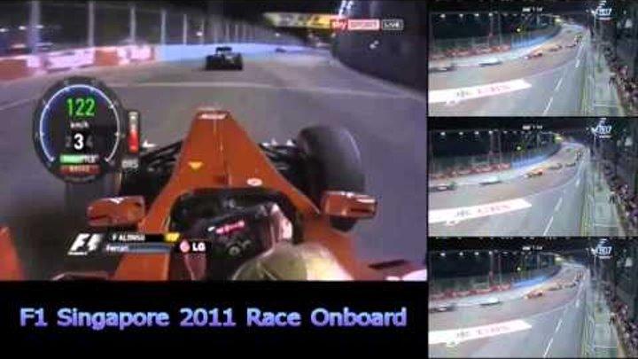 F1 Singapore 2011 - Fernando Alonso Onboard Start + First Lap